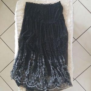 Black Skirt with White Detailing